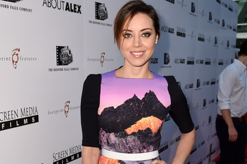 Aubrey Plaza's Patterned Dress