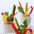 Veggie Shooters with Skinny Ranch Dip