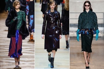 Paris Fashion Week Runway Trend: Dark '40s Glamour