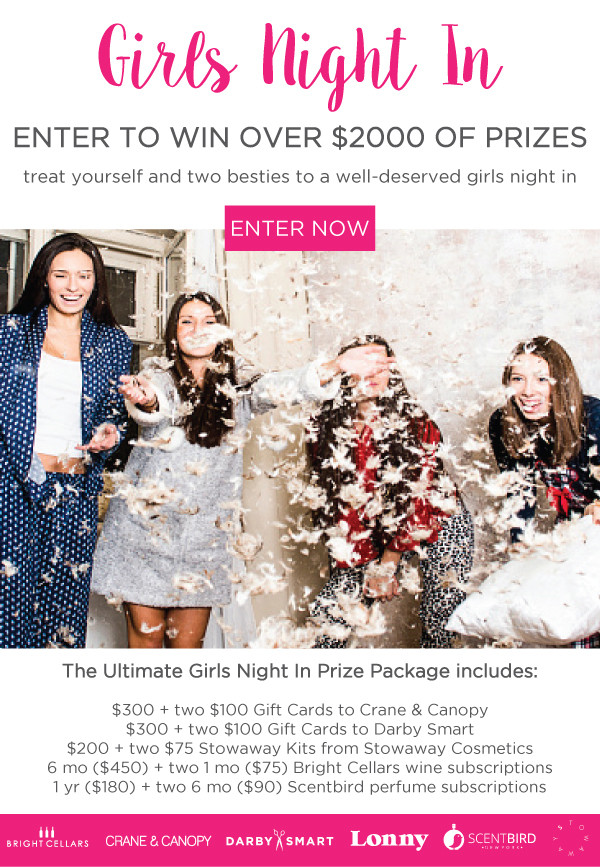 Win a 'Girls Night In' Prize Package Worth $2000!