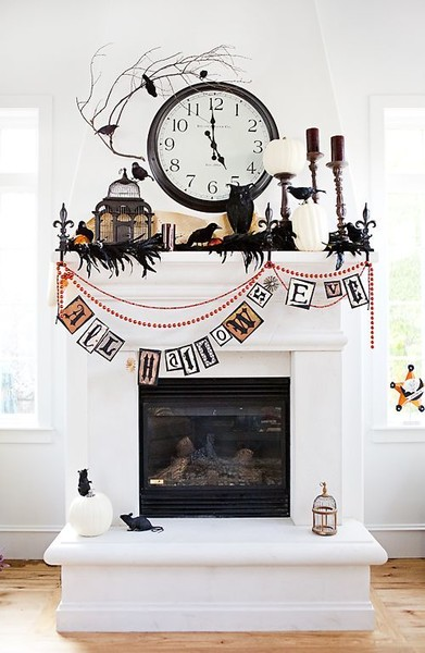 Gorgeous Ways To Decorate Your Mantel This Halloween
