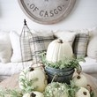 Neutral Pumpkin Decor