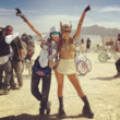 Looking Like A Queen At Burning Man With Cara Delevingne