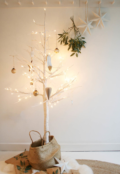 Try A Bare White Tree In A Basket