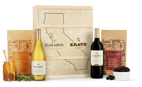 Wine and Jerky Gift Set