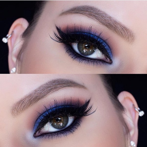 Electric Blue Smoky Eye