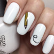 back to school nails pencil