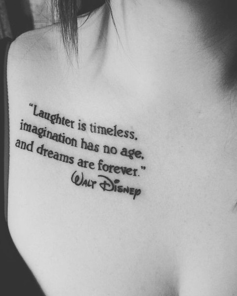 Dreams Are Forever - These Classic Disney Quote Tattoos Will ...