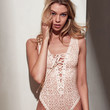Sheer Lace-Up Teddy