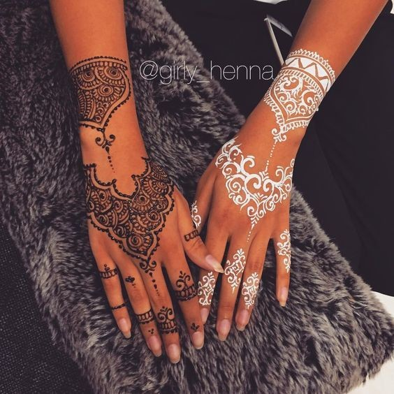 Black And White  The Prettiest Henna Tattoos On Pinterest