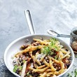 Caramelized Onion and Olive Pasta