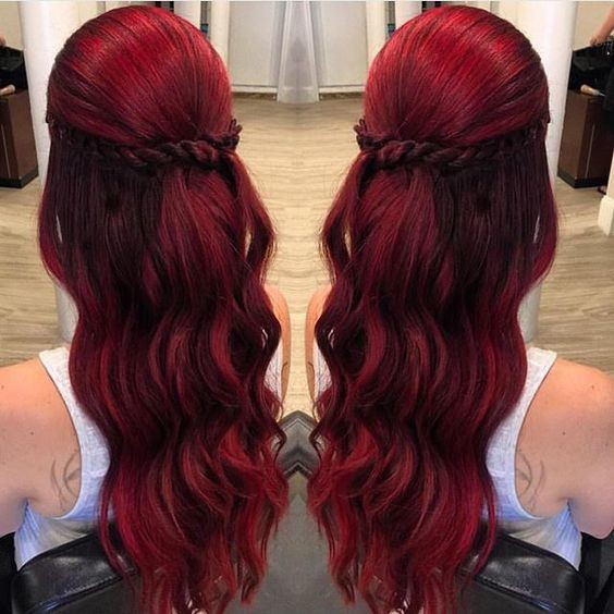 Ruby Red Tones The Best Jewel Tone Hair On Pinterest