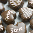Chocolate Dipped Cookie Dough Hearts