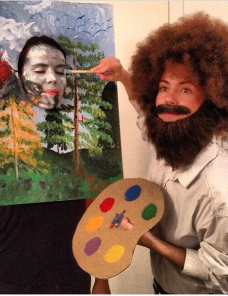 Bob Ross & His Painting