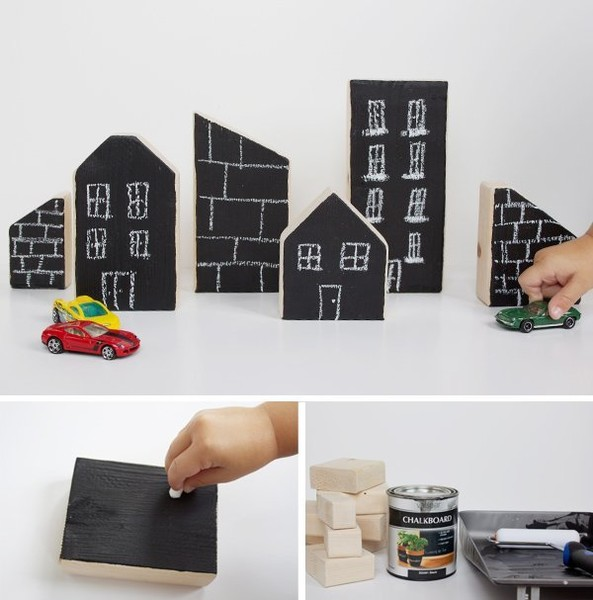 DIY a Chalkboard Village
