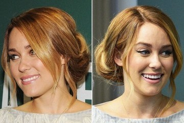 Lauren Conrad Wears Pretty Pinned-Up Hairstyle