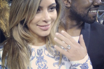 See a Picture of Kim Kardashian's Giant Engagement Ring from Kanye West