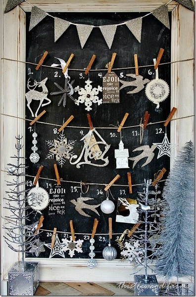 Ornament And Clothes Pin Calendar