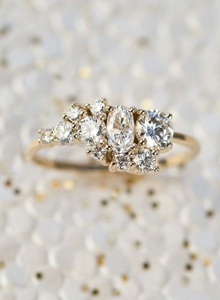Custom Heirloom Cluster Ring