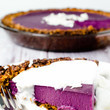 Purple Yam Pie With Coconut Almond Crust