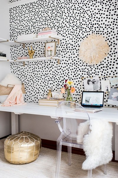DIY Speckled Wall