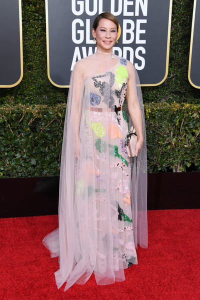 Image result for lucy liu golden globes 2019 dress