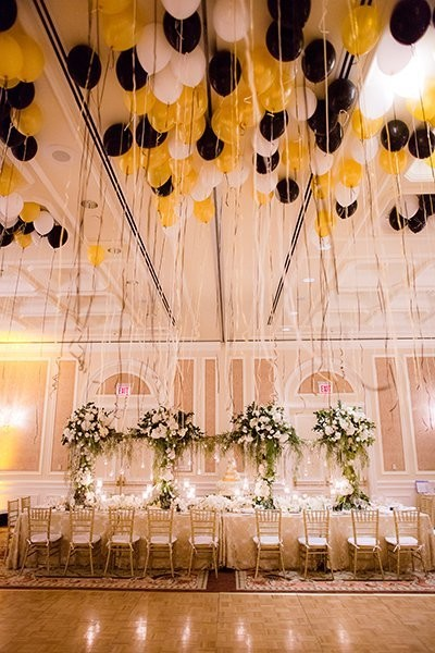 Gold and Black Balloons