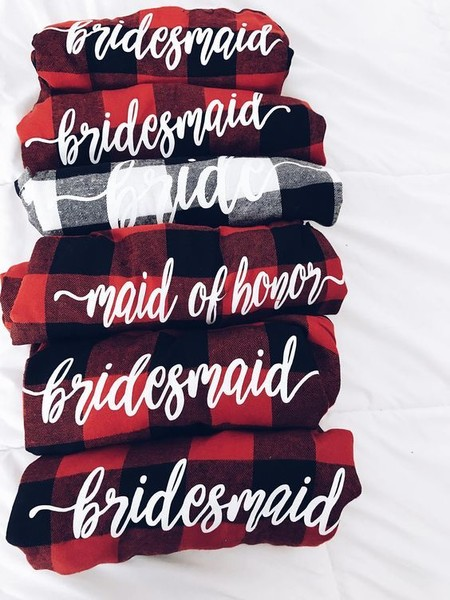 Bridal Party Flannel