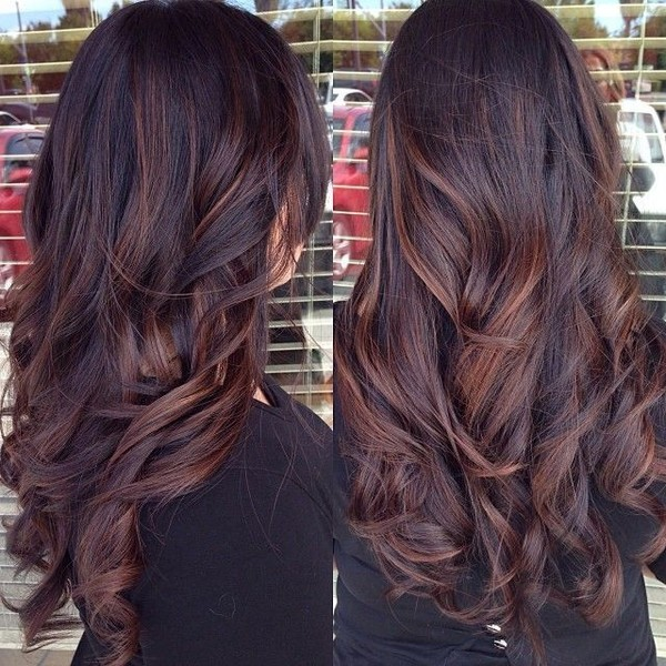Brunette With Red Highlights 20 Gorgeous Brown Color Hair Ideas