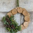 Wood Slice and Burlap