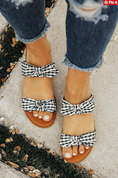 Double Gingham Bows