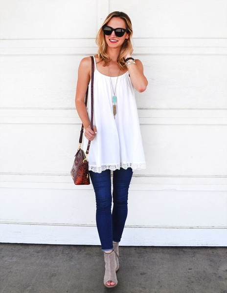 Wear a Floaty LWD Over Jeans