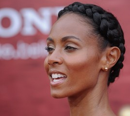 Jada Pinkett-Smith Sports Beautiful Braided Bun at 'Karate Kid' Premiere