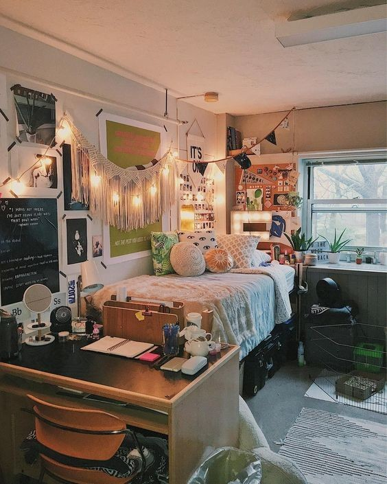 All out diy ideas that 39 ll make your dorm room feel like for Dorm room decor quiz