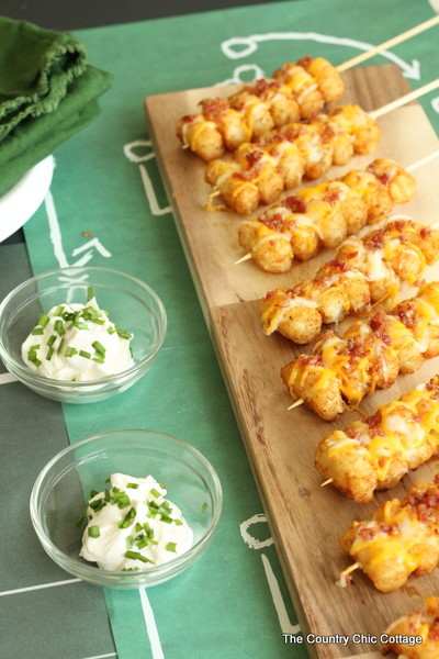 Loaded Tater Tot Kabobs