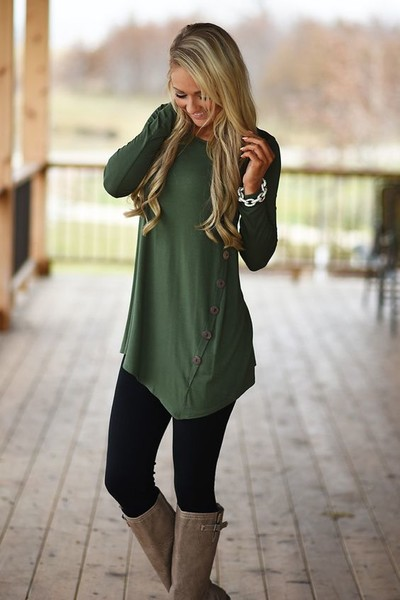 02ea805a93f6cb Olive Green - Chic Leggings Outfits You Can Actually Wear To Work ...