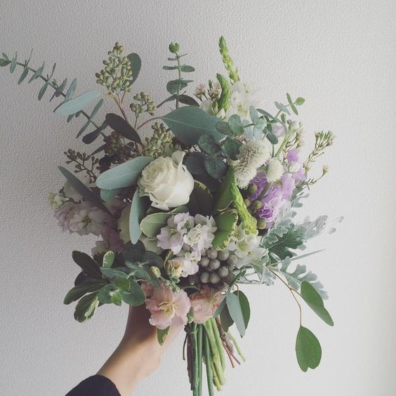 Sage & Muted Purple Bouquet