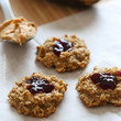 Healthy PB & J Oatmeal Cookies