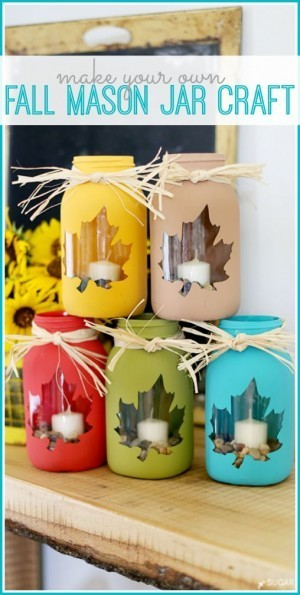 Make fall mason jars