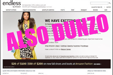 Online Shoe Retailer Endless.com Absorbed by Amazon.com/Fashion
