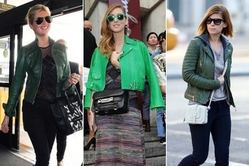 Trend to Try: Green Leather Jacket