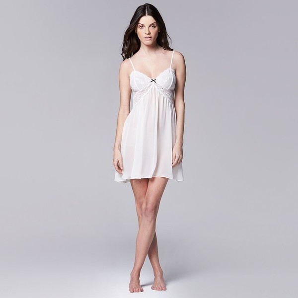 465a7eb9bfa Sexy and Sweet Bridal Lingerie for Every Budget · Vera Wang Bridal Lace  Chiffon Chemise