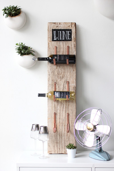 DIY Barn Wine Rack