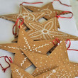 Hand-Drawn Recycled Cardboard Stars