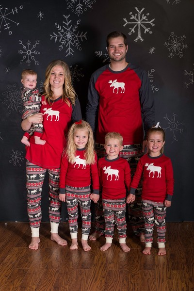 Indulge in matching PJs for the whole family
