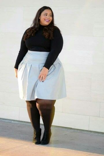 Minimalist Turtlenecks Plus Size Date Outfits To Slay In