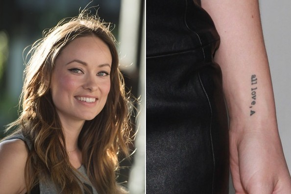Olivia Wilde S Reminder The 50 Most Stylish Celebrity Tattoos Livingly