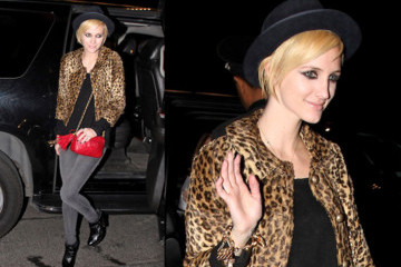 Ashlee Simpson-Wentz Flaunts a New Blond Crop in NYC