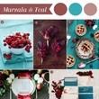 Marsala and Teal