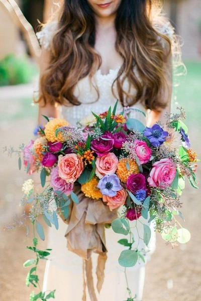 Colorful Spanish-Inspired Bouquet